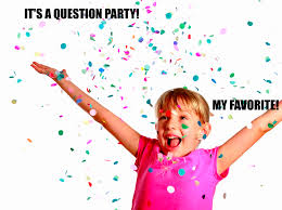question party with confetti