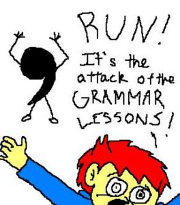 grammar lessons cartoon
